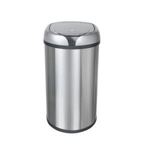 Ведро для мусора сенсорное, круглое, нерж, внутр ведро, Foodatlas JAH-9112, 12 л